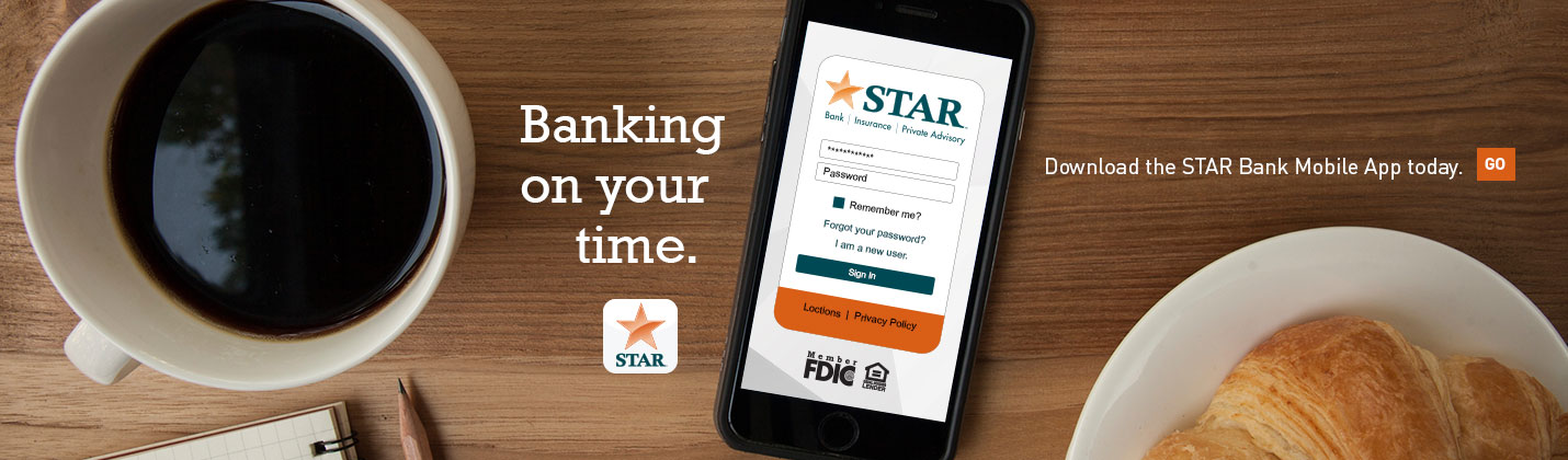 Download the STAR Bank Mobile App today
