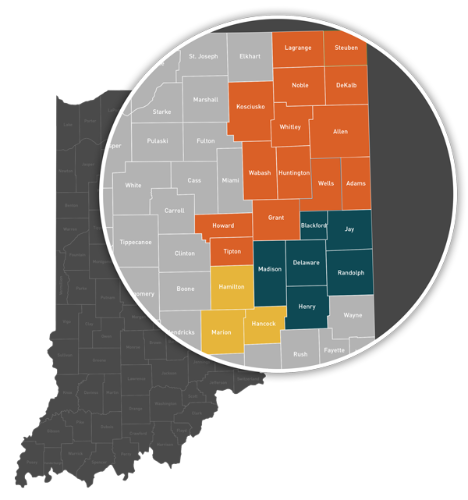 Commercial Banker Indiana Counties Served
