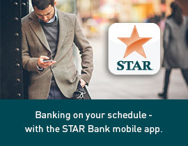 Bank on your schedule with the STAR Bank mobile app.