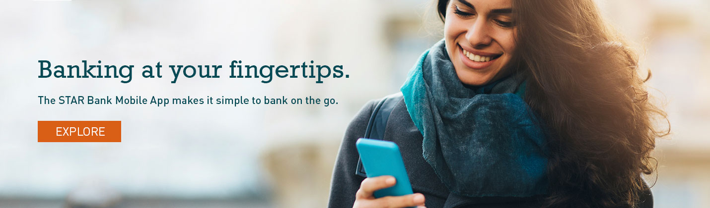 Bank at your fingertips with the STAR Bank Mobile App.