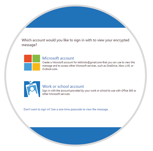 Which account would you like to sign in with - Microsoft
