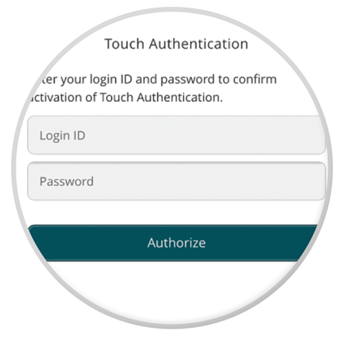 Touch ID authentication screenshot