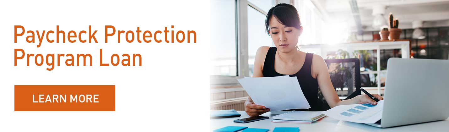 Paycheck Protection Program Loan Homepage Banner